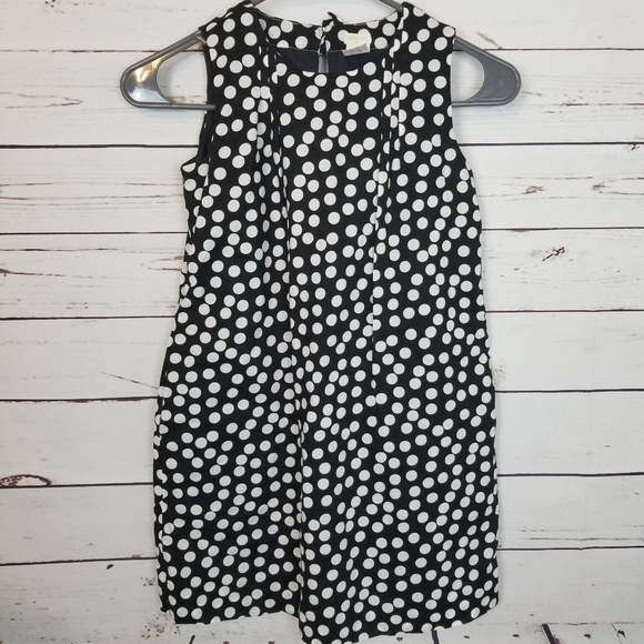 a6ee9534373 Crewcuts Other - Crewcuts black and white dot dress girls size 8